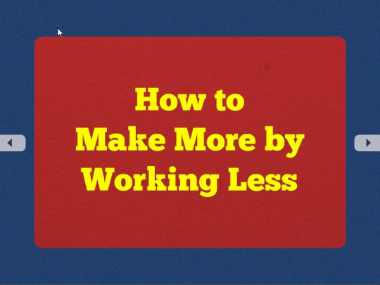 How to Make More by Working Less - The Allegory of the Three Orange Groves