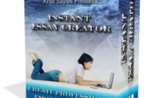 Instant Essay Creator- Software Included